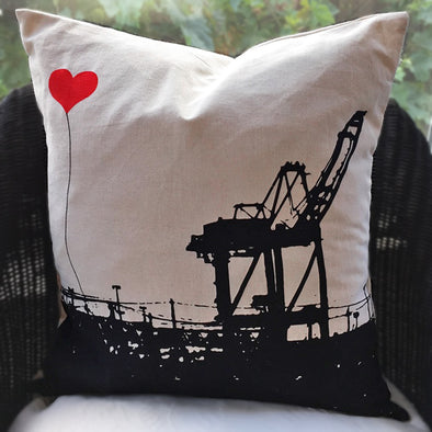 Crane Pillow - Oakland Lovers, 18 x 18