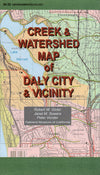 Creek & Watershed Map of Daly City & Vicinity - Oakland Museum of California Store