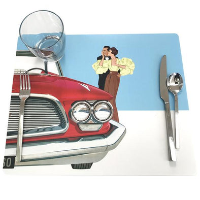 Midcentury Car Culture Placemats
