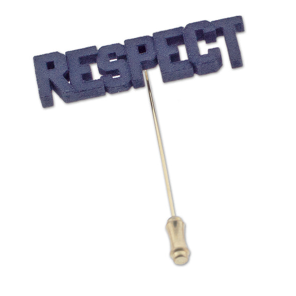 RESPECT 3-D Printed Lapel Pin - Oakland Museum of California Store