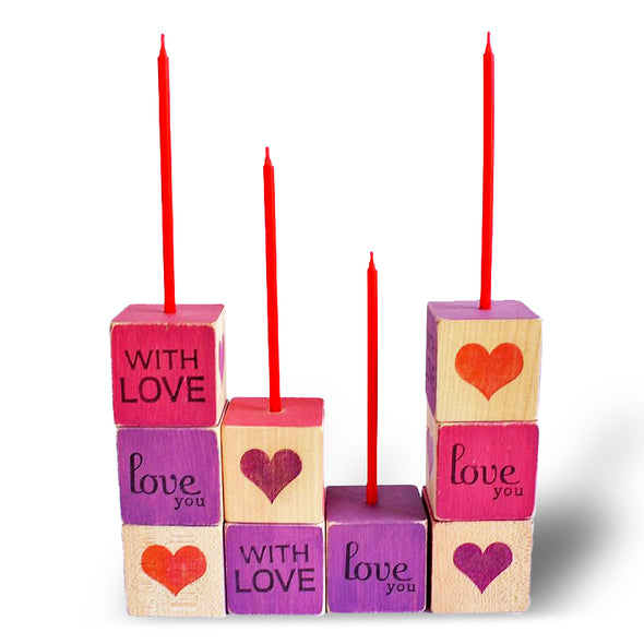 Love You Block and Candle - Oakland Museum of California Store