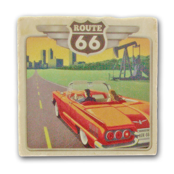 Route 66 - Italian Marble Coaster - Oakland Museum of California Store