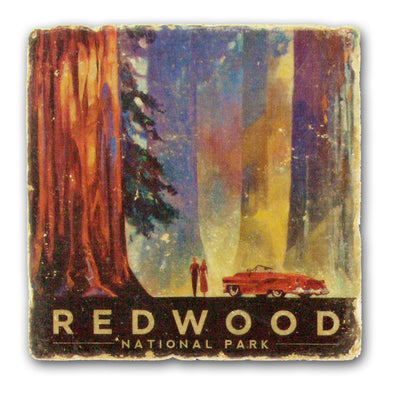 Redwood National Park - Italian Marble Coaster - Oakland Museum of California Store