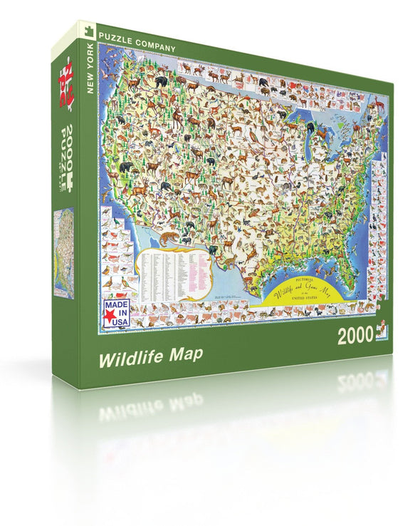 Wildlife Map 2000 Piece Puzzle