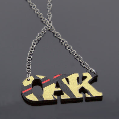 OAK Laser Cut Book Cover Necklace - Oakland Museum of California Store