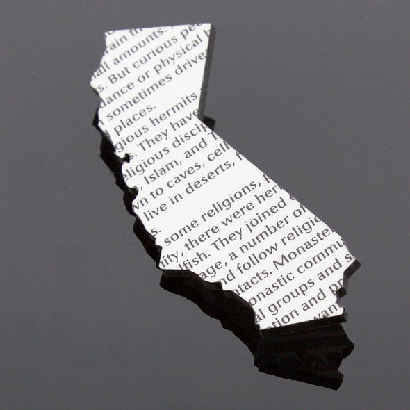California Laser Cut Book Cover Pin - Oakland Museum of California Store