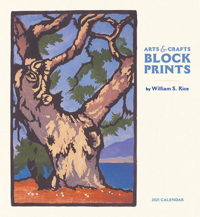 2021 Calendar - Arts & Crafts Block Prints by William S. Rice