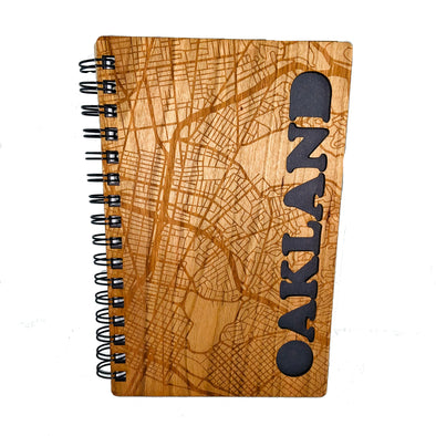 Oakland Laser Cut Cherry Wood Journal