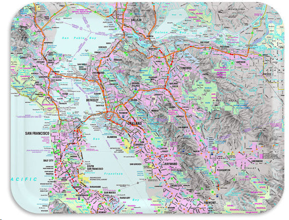 TV Tray: The San Francisco Bay Area Street Map – Oakland Museum of ...