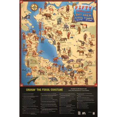 50 Fabulous Bay Area Fossil Finds Map - Oakland Museum of California Store