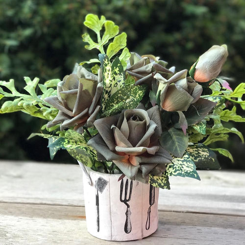 Pot of Rose - Exclusive Green/Garden - Decor Garden - SEO - Image