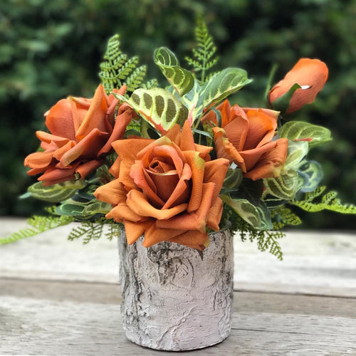 Pot of Rose - Exclusive Orange/Birch - Decor Garden - SEO - Image