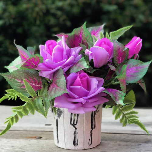 Pot of Rose - Purple/Garden - Decor Garden - SEO - Image