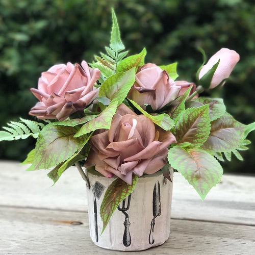 Pot of Rose - Exclusive Brown/Garden - Decor Garden - SEO - Image