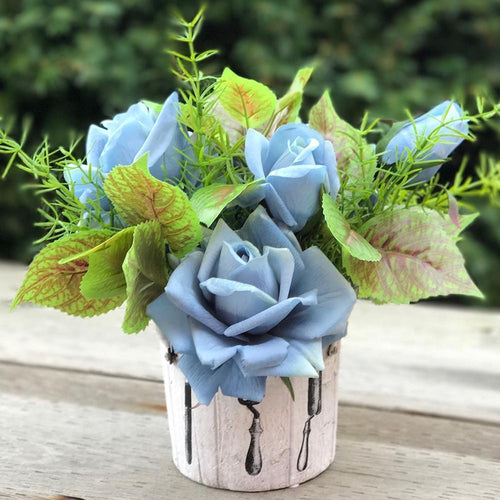 Pot of Rose - Exclusive Blue/Garden - Decor Garden - SEO - Image