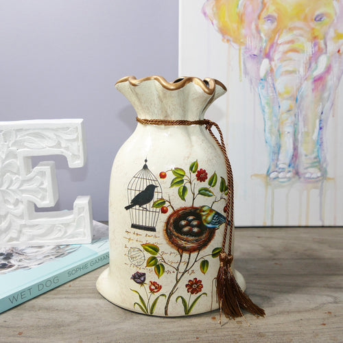 Decor Garden - Western Vase Series - Western Table Vase - Cream