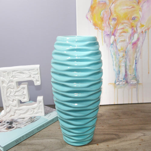 Decor Garden - Western Vase Series - Western Table Vase - Blue