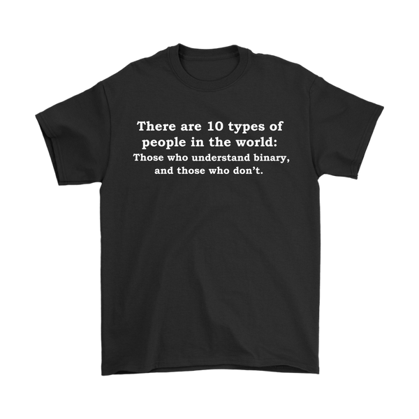 GearLogic - Science Jewelry & Science Shirts | 10 Types of People T-Shirt