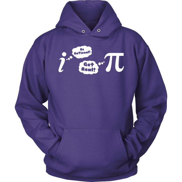 GearLogic - Science Jewelry & Science Shirts | Be Rational, Get Real Hoodie