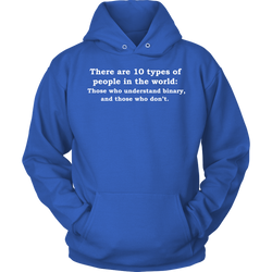 GearLogic - Science Jewelry & Science Shirts | 10 Types of People Hoodie