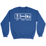 GearLogic - Science Jewelry & Science Shirts | Eat Sleep Chemistry Sweatshirt