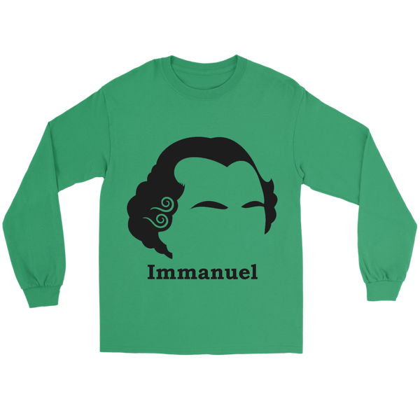 GearLogic - Science Jewelry & Science Shirts | Immanuel Kant Silhouette Long Tee