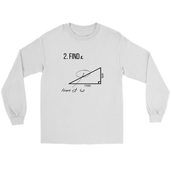 GearLogic - Science Jewelry & Science Shirts | Find X Math Long Tee