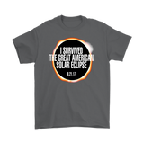 GearLogic - Science Jewelry & Science Shirts | I Survived the Solar Eclipse T-Shirt