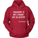 GearLogic - Science Jewelry & Science Shirts | Philosophy is not a Theory Wittgenstein Hoodie
