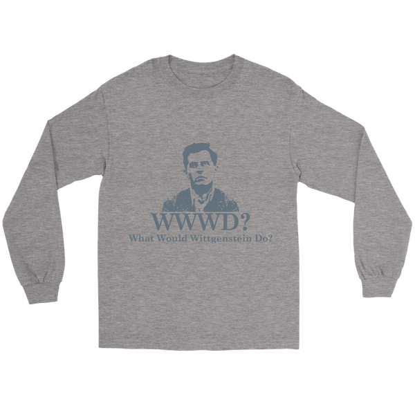 GearLogic - Science Jewelry & Science Shirts | What Would Wittgenstein Do Long Tee