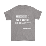 GearLogic - Science Jewelry & Science Shirts | Philosophy is not a Theory Wittgenstein T-Shirt