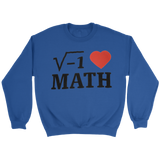 GearLogic - Science Jewelry & Science Shirts | i ♥ Math Sweatshirt