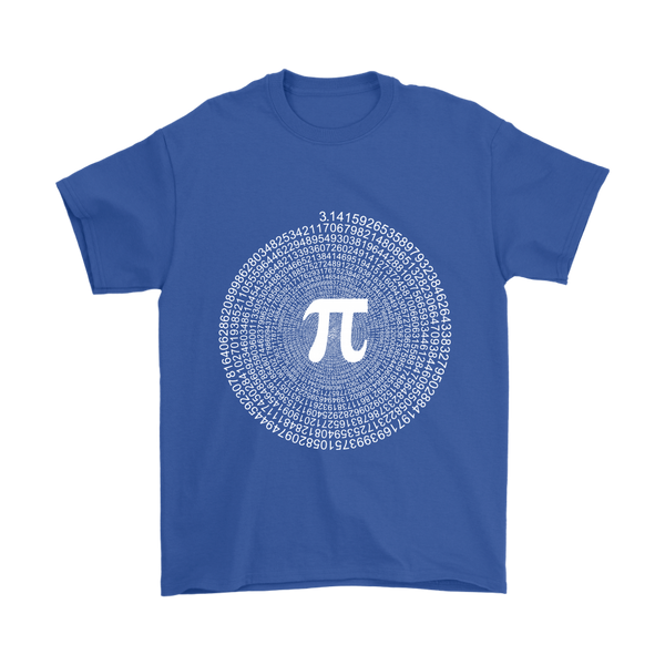 GearLogic - Science Jewelry & Science Shirts | Spiral Pi Value T-Shirt
