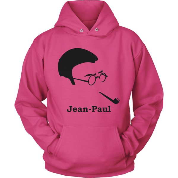 GearLogic - Science Jewelry & Science Shirts | Jean-Paul Sartre Silhouette Hoodie
