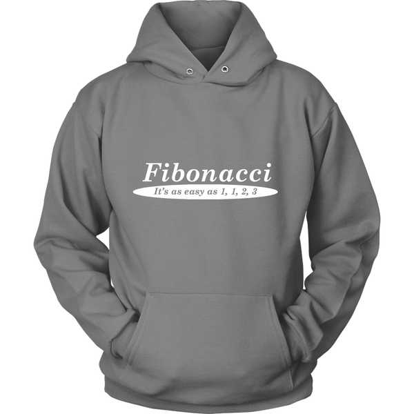 GearLogic - Science Jewelry & Science Shirts | Fibonacci is Easy Hoodie