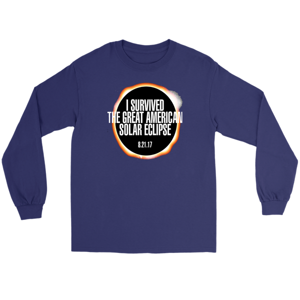 GearLogic - Science Jewelry & Science Shirts | I Survived the Solar Eclipse Long Tee