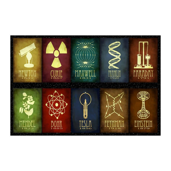 GearLogic - Science Jewelry & Science Shirts | 10 Great Scientists Poster (3 Sizes)