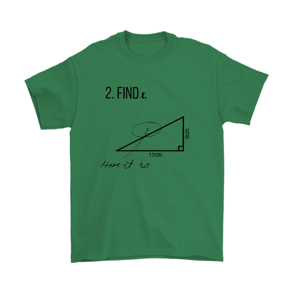 GearLogic - Science Jewelry & Science Shirts | Find X Math T-Shirt