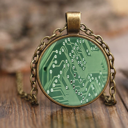 GearLogic - Science Jewelry & Science Shirts | Circuit Pendant Necklace