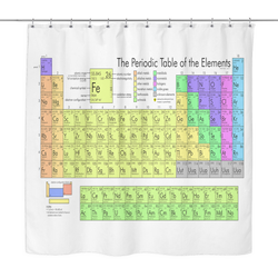 GearLogic - Science Jewelry & Science Shirts | Periodic Table Shower Curtain