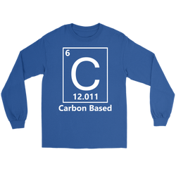 GearLogic - Science Jewelry & Science Shirts | Carbon Based Life Long Tee