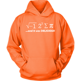GearLogic - Science Jewelry & Science Shirts | I Ate Some Pie Math Hoodie