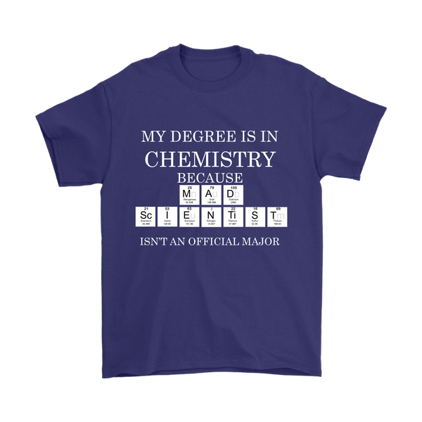 GearLogic - Science Jewelry & Science Shirts | Mad Scientist Degree T-Shirt