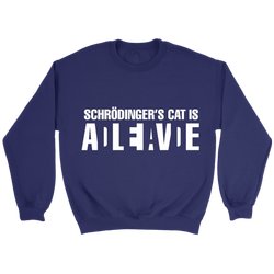GearLogic - Science Jewelry & Science Shirts | Schrodinger's Cat Sweatshirt