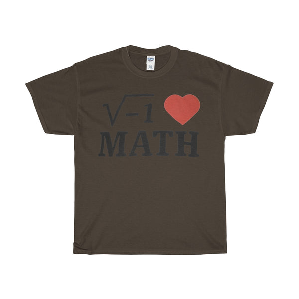 GearLogic - Science Jewelry & Science Shirts | I ♥ Math Heavy Cotton T-Shirt