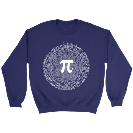 Spiral Pi Value Science T-Shirt (Special Pi Day Sale!)