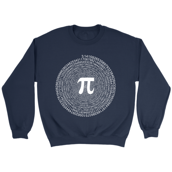 GearLogic - Science Jewelry & Science Shirts | Spiral Pi Value Sweatshirt