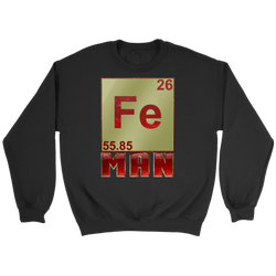 GearLogic - Science Jewelry & Science Shirts | Periodic Iron Man Sweatshirt