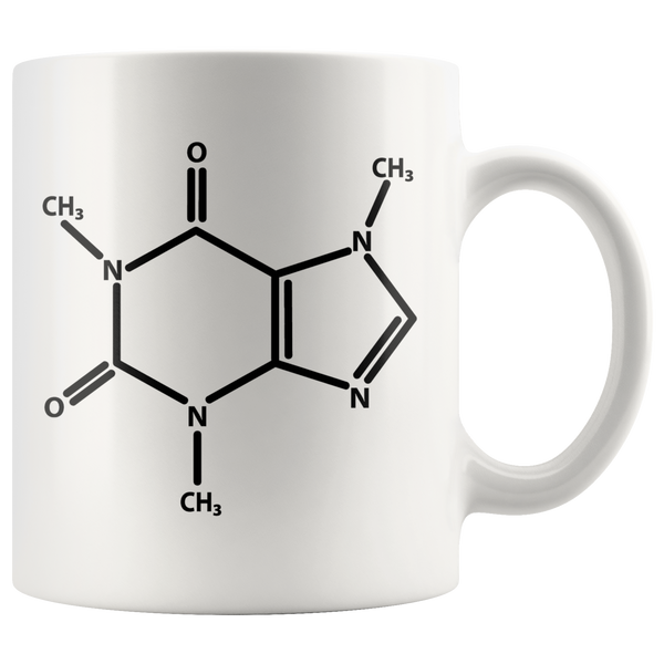 GearLogic - Science Jewelry & Science Shirts | Caffeine Molecule Mug