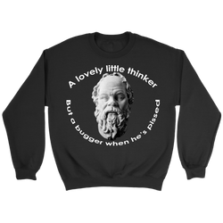 GearLogic - Science Jewelry & Science Shirts | Socrates A Lovely Little Thinker Sweatshirt